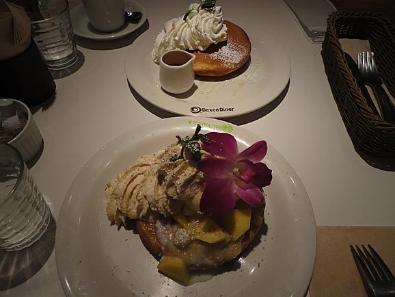 ピニャコラーダパンケーキ@Dexee Diner_e0230011_16302423.jpg