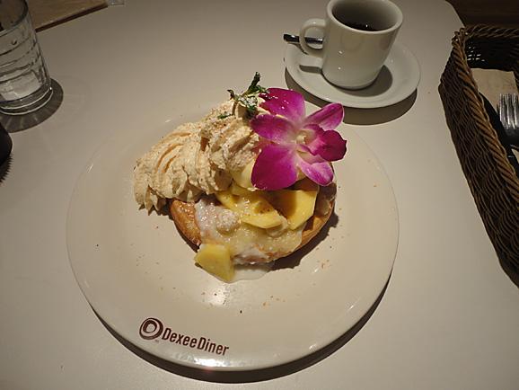 ピニャコラーダパンケーキ@Dexee Diner_e0230011_16312663.jpg