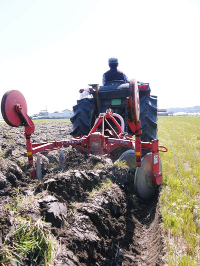 七城米 長尾農園 「天地返し」で深くまで強い根をはる田んぼ作り!_a0254656_192395.jpg