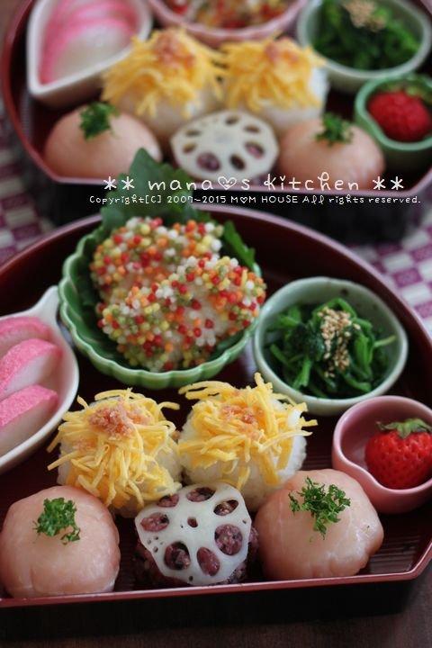 パステルカラーがポップでかわいい!春色の食材を使った手まり寿司に大人も子供も大喜び