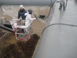 某研究所金属屋根防水工事(つくば市)_c0183605_2314433.jpg