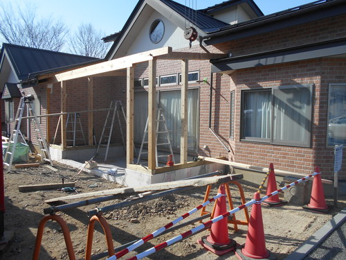 京島クリニック増築工事始まりました。_c0218716_1855854.jpg