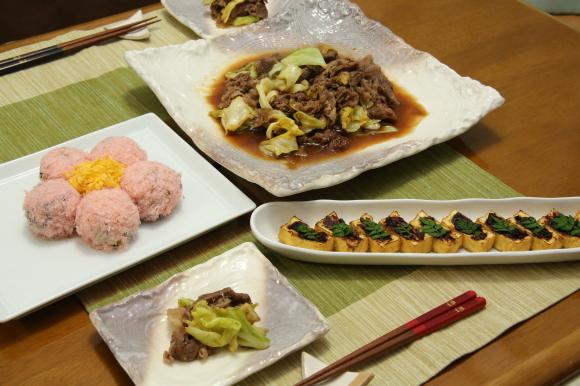カラフルチキングリル弁当&手毬風寿司と日本酒のおつまみ。_c0326245_11230049.jpg