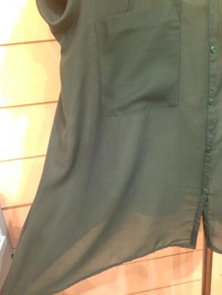 深緑色 ブラウス_e0268298_1884454.jpg