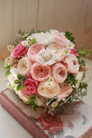 桜色のクラッチブーケ♪_a0136507_21040736.jpg
