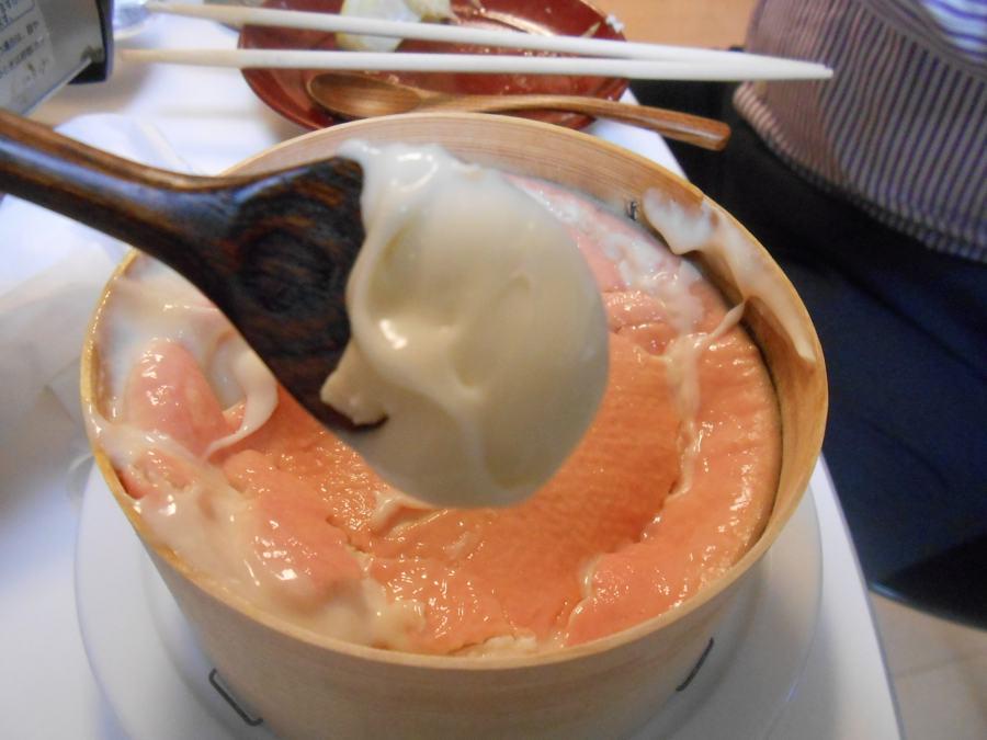 桜満開の中、春の素材で桜宴会「貝と桜寿司」_a0095931_029155.jpg