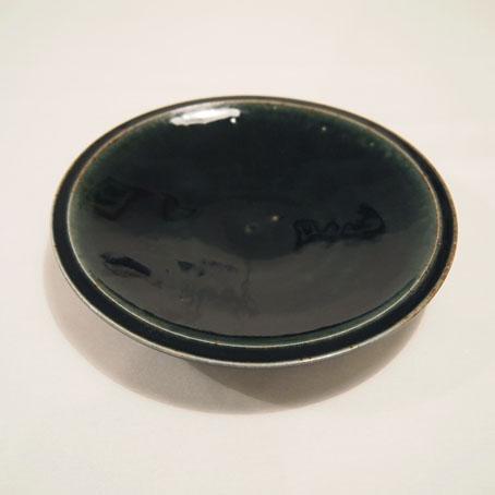 山田隆太郎さん、瑠璃6寸皿とそばちょこ_b0322280_192571.jpg