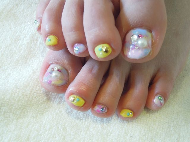 Marble Foot Nail_a0239065_190891.jpg