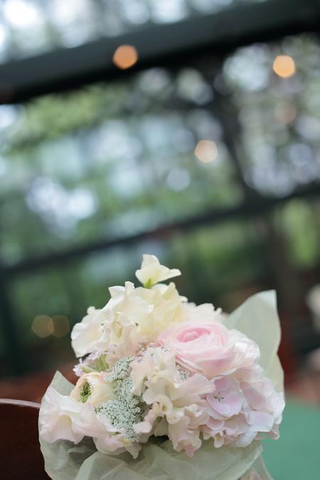 春の装花 リストランテASO様へ 淡い紫で  リトルシルバー、そら_a0042928_20191649.jpg