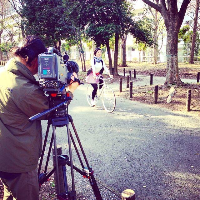 リピトTVテレビ撮影『NHK BS1 美スポ』おしゃれ 自転車 女子 女性 テレビ_b0212032_19372645.jpg