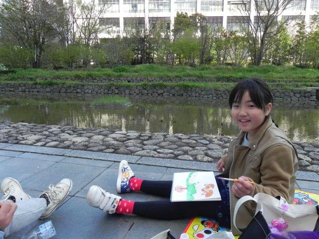 梅田スカイビルで写生会2015_d0076558_1414176.jpg