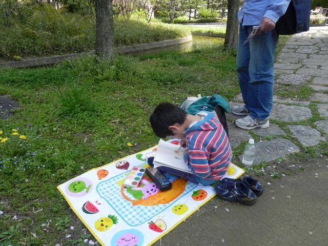 梅田スカイビルで写生会2015_d0076558_14192675.jpg
