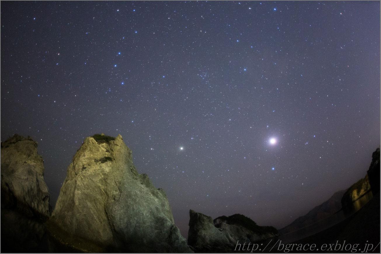 皆既月食中の星空_b0191074_1454937.jpg