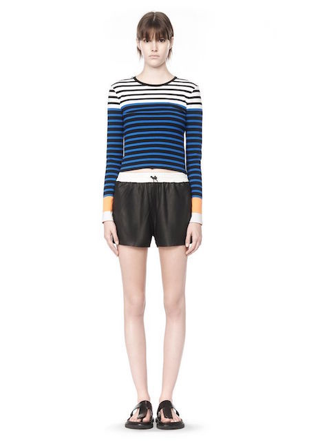 T BY ALEXANDER WANG STRETCH COTTON ENGINEER STRIPE LONG SLEEVE TEE_f0111683_15533767.jpg
