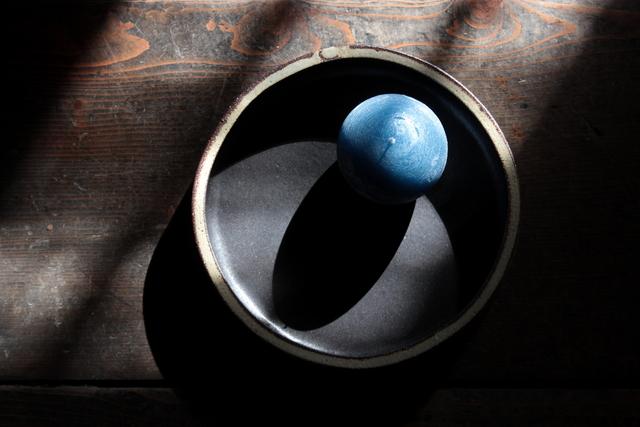 陶器とキャンドルの和の融合(折笠恵子・牧野潤二人展)_a0158797_054100.jpg