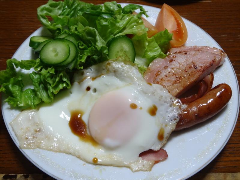 鶏モモ肉のソテー、ひじき煮、カレー、煮豆、焼売、白菜の煮物です。_c0225997_18412872.jpg