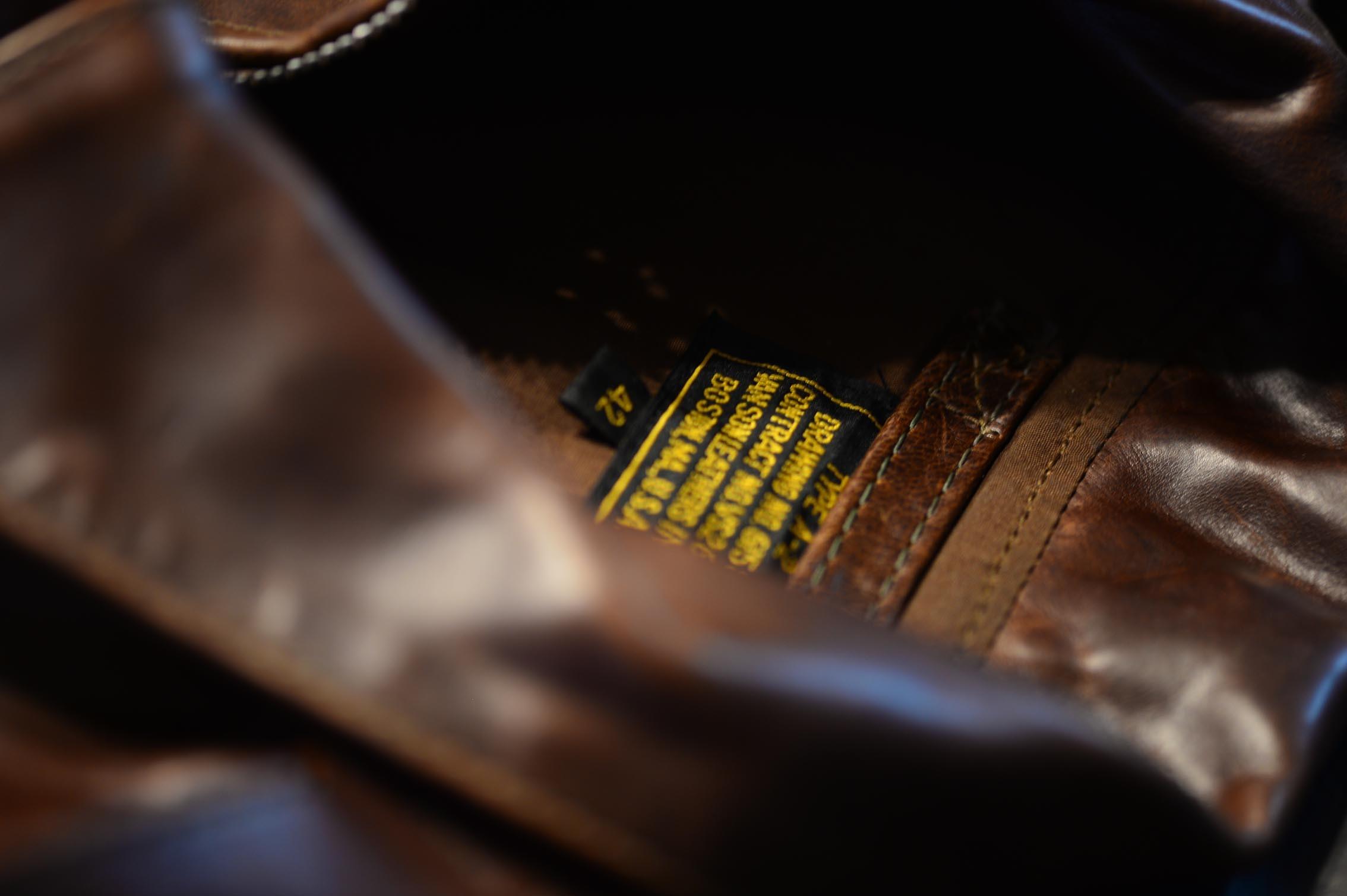 ジャケット皮革考察6  バンソン A2 クオーターホースハイド/ブラウン_b0310424_12071847.jpg