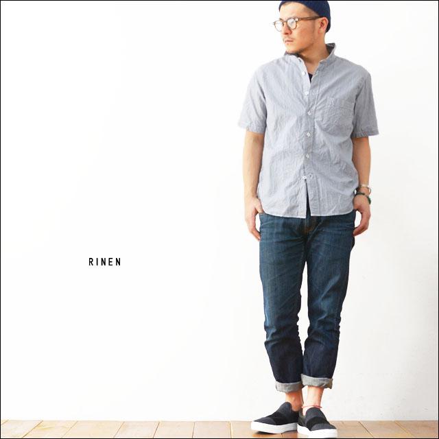 RINEN [リネン] 80/2 ダウンプルーフへアラインストライプ半袖レギュラーカラーシャツ [34534] MEN\'S_f0051306_18422584.jpg