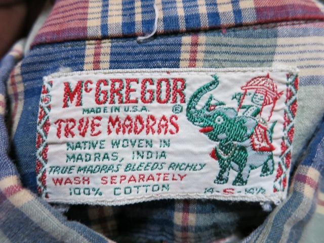 アメリカ仕入れ情報#4 60's マクレガーマドラスチェック B.D シャツ!_c0144020_10484447.jpg