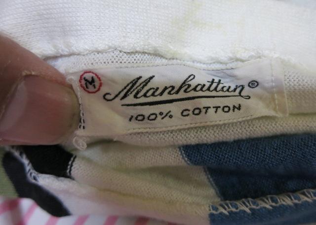アメリカ仕入れ情報#6 50\'S~ Manhattan ボートネック7分Tシャツ!_c0144020_10552596.jpg