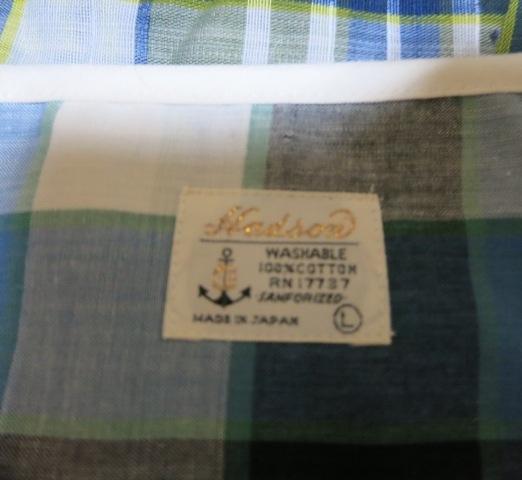 アメリカ仕入れ情報#9 60~70\'S デッドストック マドラスヘンリーネックTシャツ_c0144020_955256.jpg