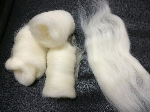羊毛の手紡ぎ練習_b0042538_1516157.jpg