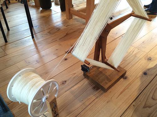 羊毛の手紡ぎ練習_b0042538_15194490.jpg