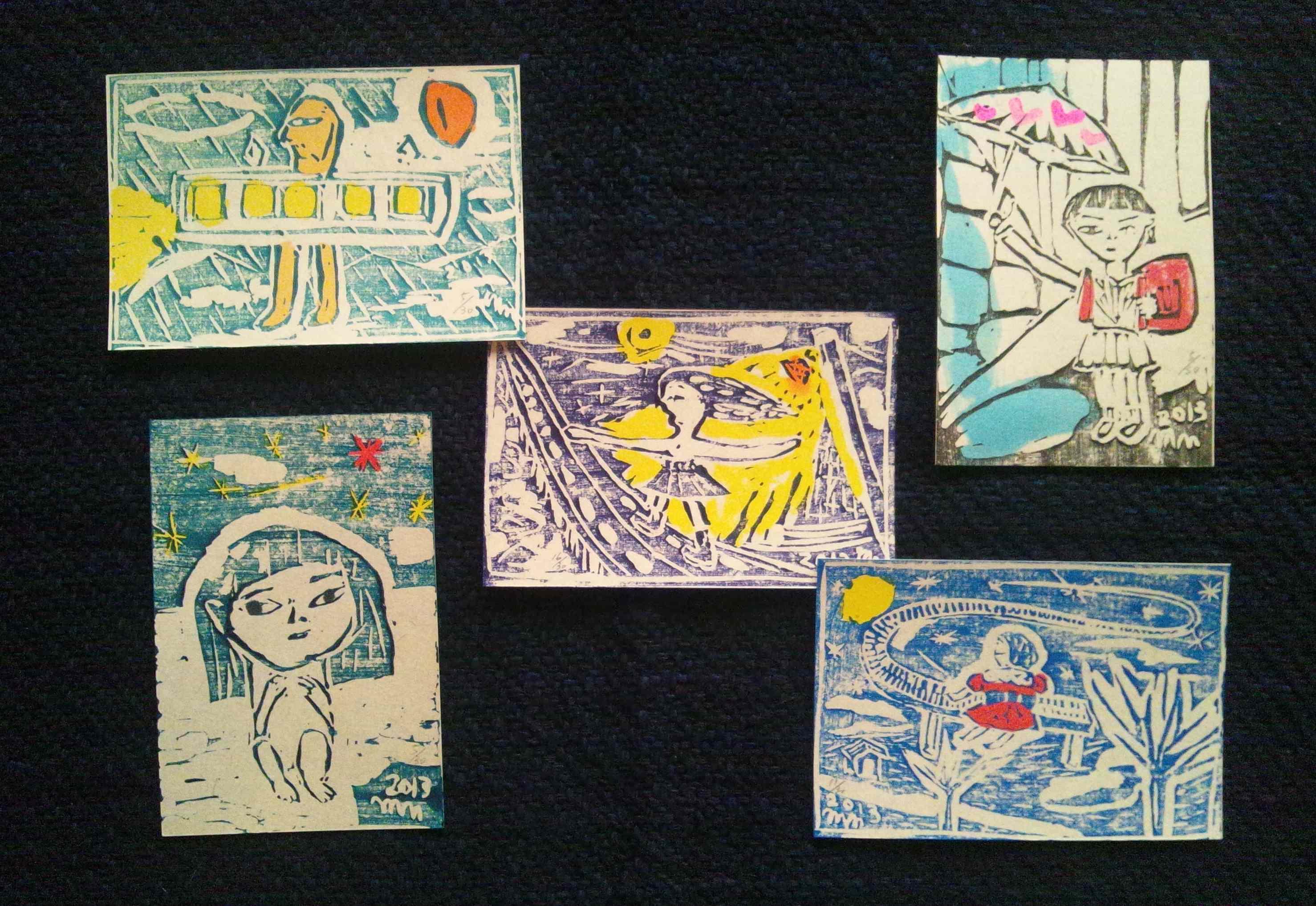 中野真典さんの木版ポストカード_a0265743_1962322.jpg