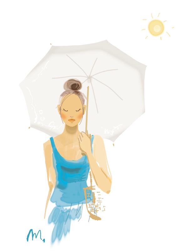 日傘でおでかけ _f0172313_14374388.jpg