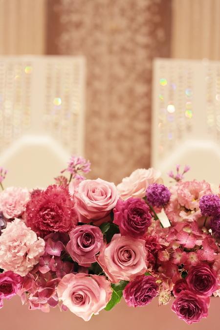 春の装花 バラの装花 パレスホテル立川様、 ローズルームへ_a0042928_2239740.jpg