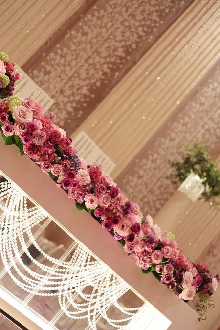 春の装花 バラの装花 パレスホテル立川様、 ローズルームへ_a0042928_22435661.jpg