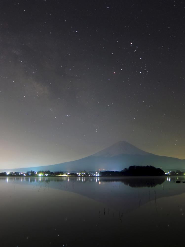 逆さ富士とさそり座_b0167343_23121894.jpg