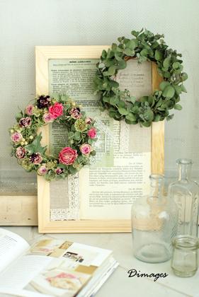 Mini wreath & Collage ♪_d0167088_16173464.jpg
