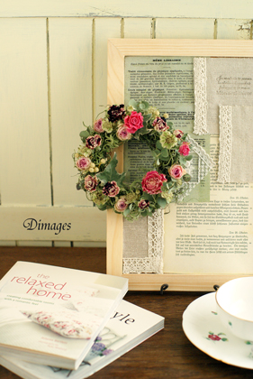 Mini wreath & Collage ♪_d0167088_16373779.jpg