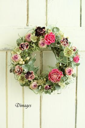 Mini wreath & Collage ♪_d0167088_16453569.jpg