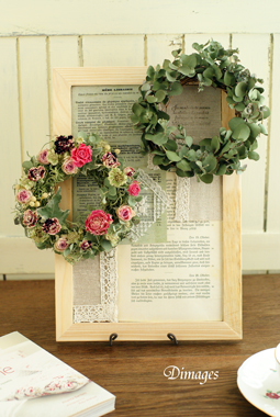 Mini wreath & Collage ♪_d0167088_16501177.jpg