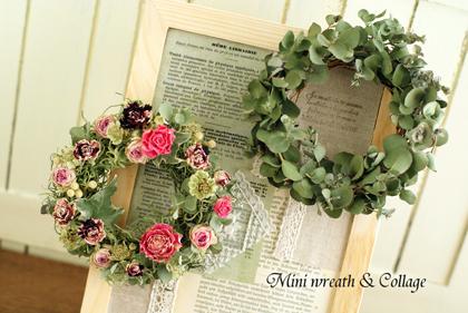 Mini wreath & Collage ♪_d0167088_16543387.jpg