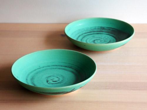 中尾さんの緑のお皿。_a0026127_20345581.jpg