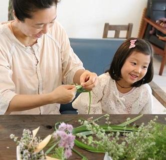 春のハーブで花冠作り_d0100638_15355641.jpg