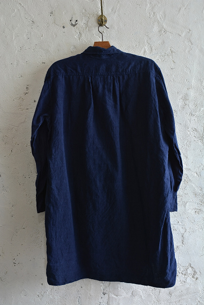Vintage & antique linen Grand-pa shirts over dyed by indigo color _f0226051_15124478.jpg