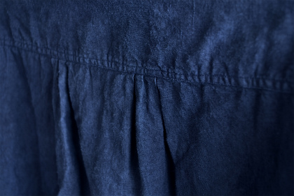 Vintage & antique linen Grand-pa shirts over dyed by indigo color _f0226051_15181011.jpg