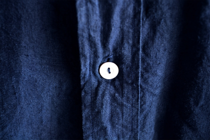 Vintage & antique linen Grand-pa shirts over dyed by indigo color _f0226051_15182628.jpg