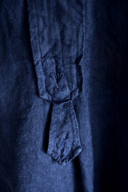 Vintage & antique linen Grand-pa shirts over dyed by indigo color _f0226051_1520690.jpg