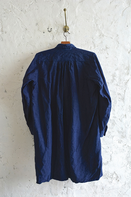 Vintage & antique linen Grand-pa shirts over dyed by indigo color _f0226051_15281025.jpg