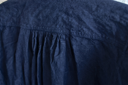 Vintage & antique linen Grand-pa shirts over dyed by indigo color _f0226051_15282324.jpg
