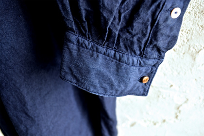 Vintage & antique linen Grand-pa shirts over dyed by indigo color _f0226051_1534225.jpg