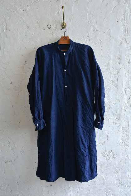Vintage & antique linen Grand-pa shirts over dyed by indigo color _f0226051_154213.jpg