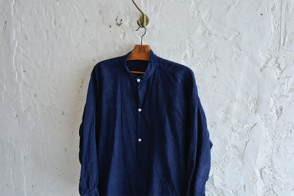 Vintage & antique linen Grand-pa shirts over dyed by indigo color _f0226051_155028.jpg