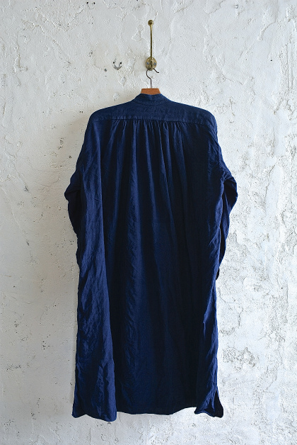 Vintage & antique linen Grand-pa shirts over dyed by indigo color _f0226051_1554583.jpg
