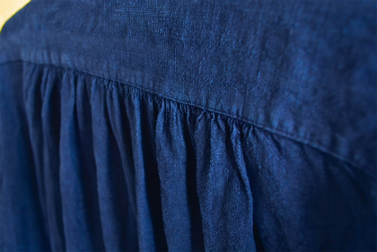 Vintage & antique linen Grand-pa shirts over dyed by indigo color _f0226051_1563858.jpg